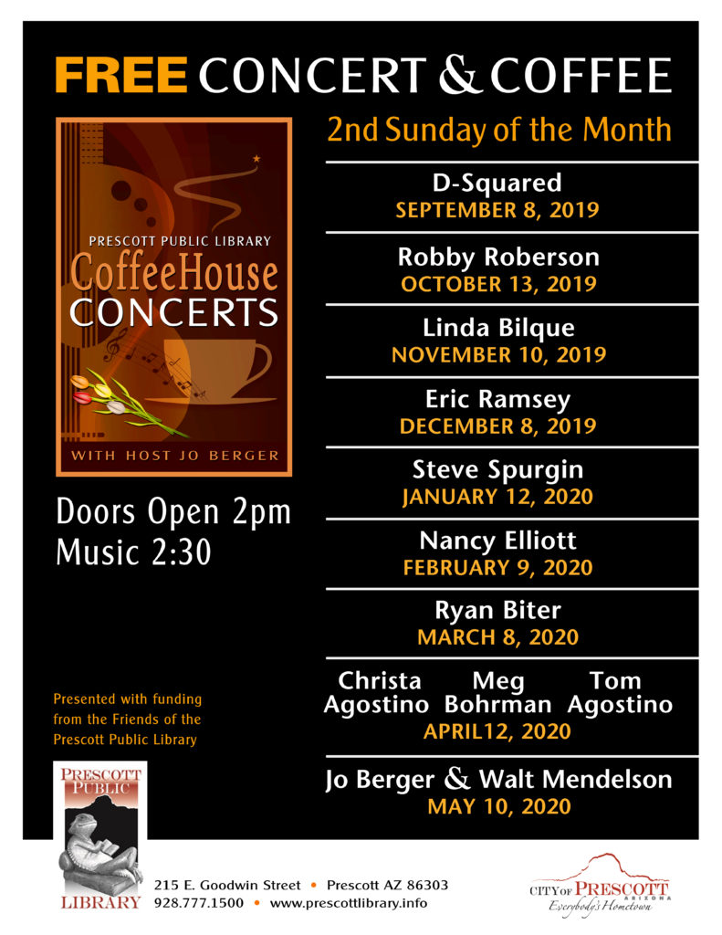 Coffeehouse Concert Series 2019-2020